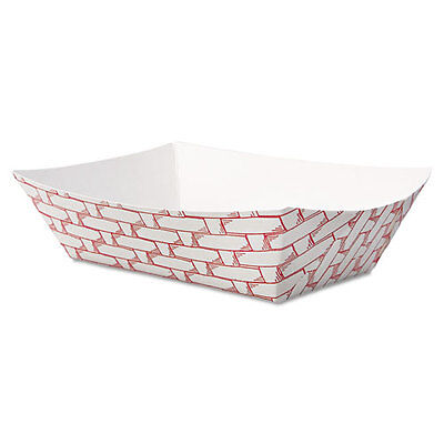Paper Food Baskets, 1/2 lb Capacity, Red/White, 1000/Carton