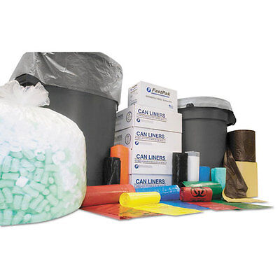 Institutional Low-Density Can Liners, 7-10 gal, .35 mil, 24 x 24, Black,...