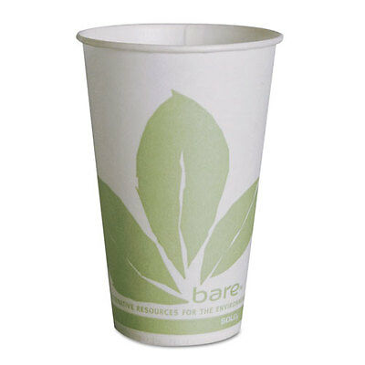Bare Eco-Forward Treated Paper Cold Cups, 12 oz, Bare Theme, Green/White...