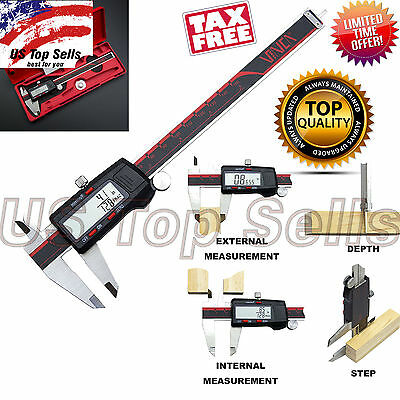 Electronic Digital Caliper Stainless 6-inch-150mm LCD Vernier Gause Micrometer