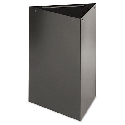 "Trifecta Receptacle 26"" High Base, Triangular, 15gal, Black"