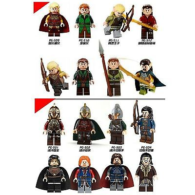 Lord Of The Rings,Hobbit Mini Figures Aragorn,Legolas,Elf,Orc,Keyring fits Lego