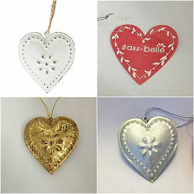 Shabby Chic Vintage Style Metal Heart By Sass & Belle Home Wedding Décor