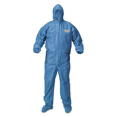 A60 Blood and Chemical Splash Protection Coveralls, 3X-Large, Blue, 20/Carton