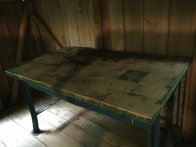 "Vintage- 6"" Foot Heavy Duty-Steel Work Bench- $199.00"