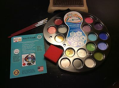 Ava And Frank Professional Face Painting Kit 16 Vibrant Paints New Free Shipping