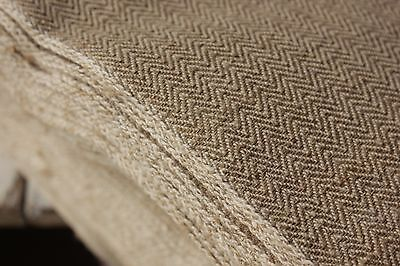 FRENCH LINEN cotton Fabric BOLT HERRINGBONE clothing upholstery material PER YD
