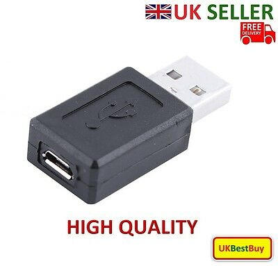 New USB 2.0 Type Male to Micro USB Type Female Adapter Converter - UK SELLER