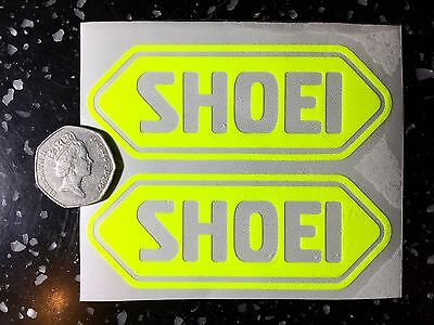 2x Shoei fluorescent Yellow SAFETY Day time visibility Motorcycle Helmet Sticker