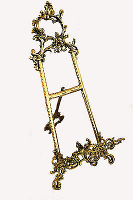"Solid Brass Decorative Brass Easel 12"" ~ Picture Stand New"