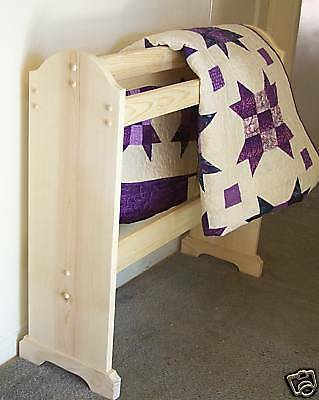 Free standing Quilt rack unfinished solid wood R.T.A. made in the USA original