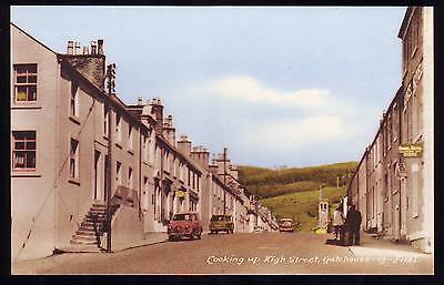 GATEHOUSE OF FLEET LOOKING UP HIGH STREET POSTCARD Old Cars