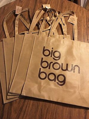 Bloomingdale's Reusable Big Brown Bag Shopping Laundry Large NWT Tote - Lot of 5