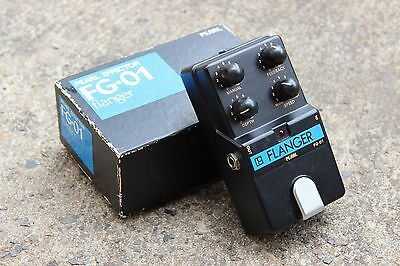 1980's Vintage Pearl FG-01 Flanger Effects Pedal w/Box