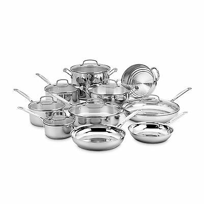 Cuisinart 77-17N 17 Piece Chef's Classic Set Stainless Steel Oven Broiler New!
