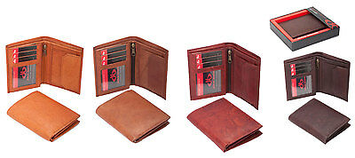 Mens Soft Genuine Quality Leather Wallet Credit Card Holder Coin Pocket Tan