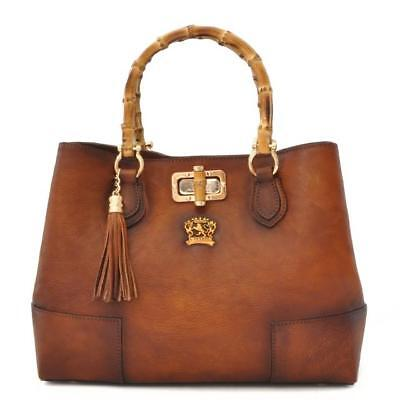 Pratesi Womens Italian Leather Sarteano Bruce Shoulder Bag in cow leather
