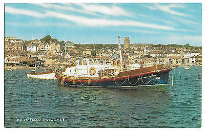 Vintage Postcard. The Lifeboat, Salcombe. Unused.  Ref:73211