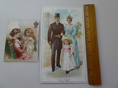 Dilworth's Coffee Victorian Trade Cards - Lot Of 2
