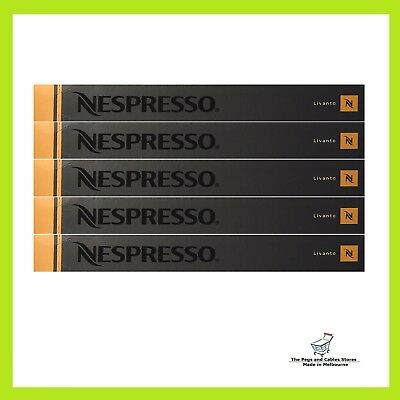 50 Capsules Nespresso Coffee Livanto Coffee Pod