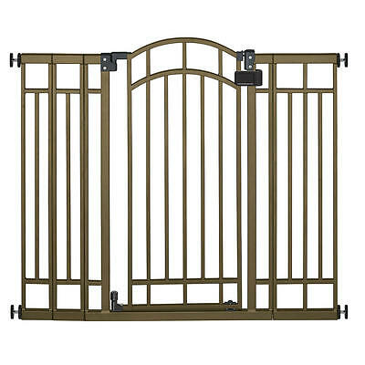 """Summer Infant 28-48""""Safe and Secure Deco Extra Tall Walk-Thru Gate - Bronze"""