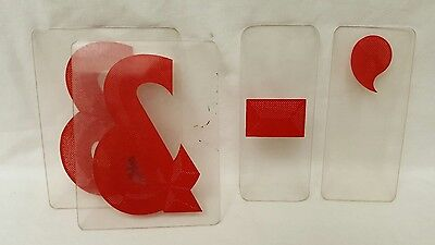 """Lot of 77 Zip Change 6"""" Red Outdoor Sign Numbers Letters Characters Marquee"""