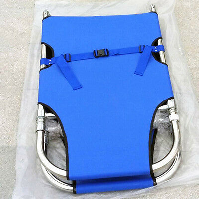 Professional Blue Foldable Medical Stretcher With Wheels Ambulance Portable GS01