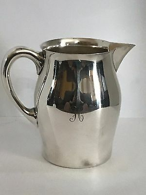 REED & BARTON Pitcher Silver Plate Silverplate Engraved # 5662 3 Pint