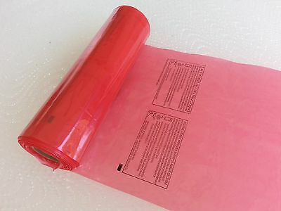 """4 Rolls 11""""x19"""" Plastic LDPE Red Meat Food Bags 460pcs 1.25MIL FDA Approved"""