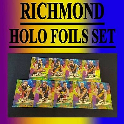 2017 Afl Select Footy Stars Richmond Tigers Holo Foils 9 Card Team Set