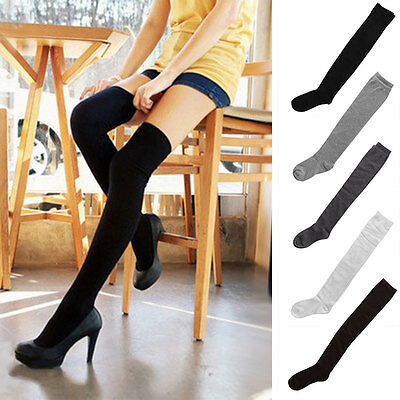 2 Pairs Warm Over The Knee Thigh High Soft Socks Stockings Leggings Women Ladies