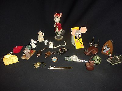 Vintage Mouse Collection - Lot of (22) - Wooden, Brass, Mousetraps, Crystal