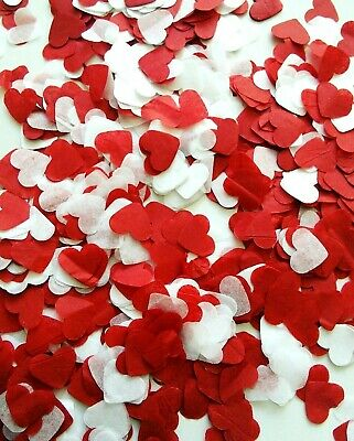 2000 White Red Paper Heart confetti Wedding throwing confetti- Love - Merry me?