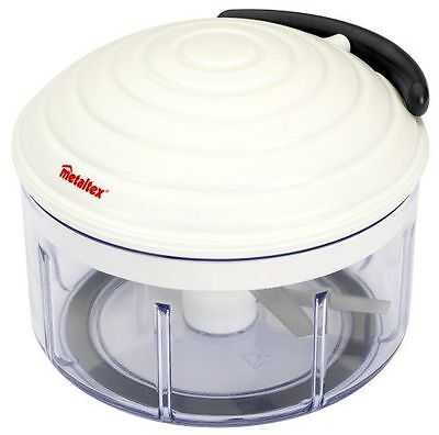 Metaltex Rotomac Herb and Vegetable Manual Chopper with Moveable Blades