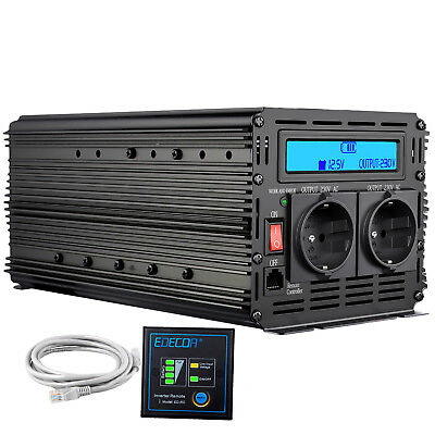 2000W 4000W DC 12V to AC 220V 230V Power Inverter Convertitore LCD Display