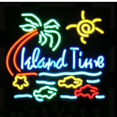 "New Island Time Beach Party Beer Bar Neon Light Sign 20""x16"" Ship From USA"