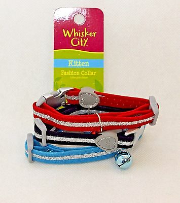Glitter Cat Collar kitten safety Buckle bling sparkly bling kitten collars bell