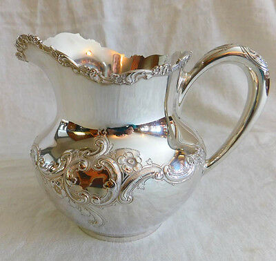 Antique,1882  Sterling Silver, 3 Pint Pitcher, by Baily, Banks and Biddle
