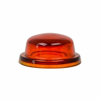 "dome light lens 1-9/16"" amber glass requires rubber grommet 80460 Peterbilt"