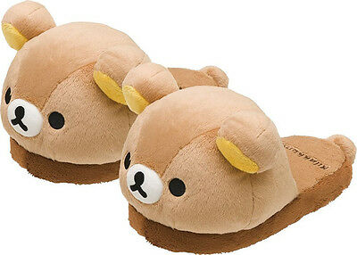 Official Rilakkuma SAN-x Plush slippers Soft Cute Bear Winter Slippers