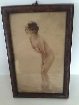 1930's  THE POSTCARD SHOP CENTRE ST CUMBERLAND MD NUDE BEAUTY WOMEN PHOTO