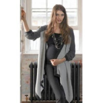 Mamas & Papas Grey Waterfall Maternity & Breast Feeding Cardigan REDUCED 60% OFF
