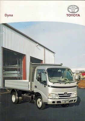 Toyota Dyna 2008 UK Market Sales Brochure 300 350 Dropside Tipper