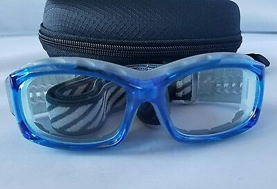 Sports Goggles Scratch Resistant Lens Basketball Football Hockey Lacrosse Blue