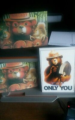 Smokey Bear Post Cards .1 Dozen. 2 Designs. Smokey & Friends .smokey With Shovel