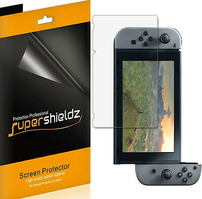 3X Supershieldz Clear Screen Protector Saver for Nintendo Switch