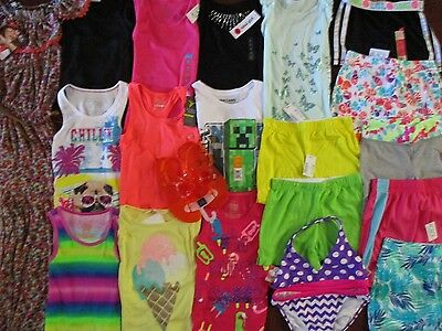 NWT'S Girls Size 7 8 Spring Summer Lot Clothes & Outfits Old Navy TCP Gap Disney