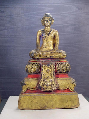 An Original Old Antique Buddha Statue from Thailand 1800s