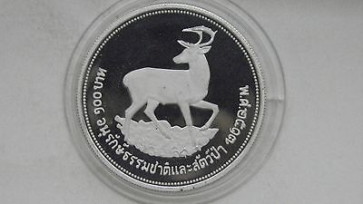 1974 Thailand 100 Baht Eld Deer Silver Proof coin