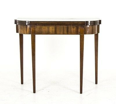 Antique Tea Table, Turn Over Table, American, Mahogany and Inlays,B643